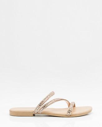 Le Château Italian-Made Metallic Strappy Sandal