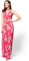 New York & Co. Halter Maxi Dress - Floral