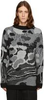 11 By Boris Bidjan Saberi Black & Grey Jacquard Sweater