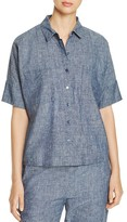 Eileen Fisher Collared Chambray Shirt