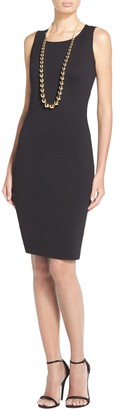 St. John Milano Knit Scoop Neck Dress