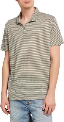 Onia Men's Shaun Striped Linen Polo Shirt