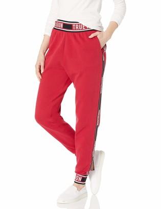 True Religion Women's Branded Taping Skinny Leg fit Jogger Sweat Pant