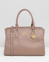 Marc B Structured Boxy Tote Bag in Mushroom