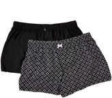Rene Rofe Women's Sleep Bottoms ASSTFASH - Black Geometric Twice As Nice Pajama Shorts Set - Women