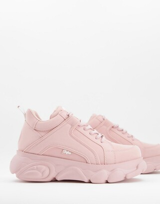 Buffalo David Bitton Corin low platform trainers in pink