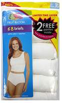 Fruit of the Loom 100% Cotton Label Free 8 (six plus two FREE!) Pack of Briefs