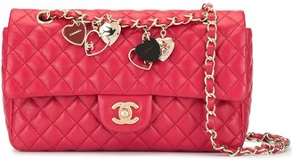 Chanel Pre-Owned Valentine double chain shoulder bag