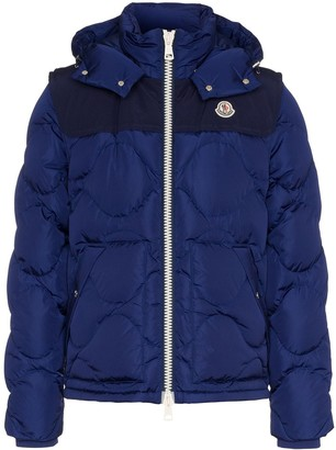 Moncler Arles hooded quilted feather down jacket