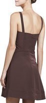 Zac Posen Sleeveless Fit-&-Flare Dress, Brown