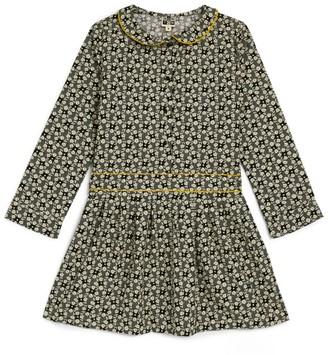 Bonton Retro Floral Dress (4-12 Years)