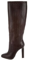 Roberto Cavalli Leather Knee-High Boots