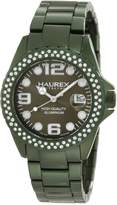 Haurex Italy Women's Ink Stones Aluminum Crystal Date Watch XK374DVV