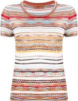 Missoni striped crochet-knit T-shirt