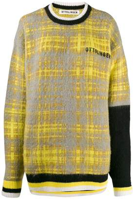 Ottolinger plaid logo jumper