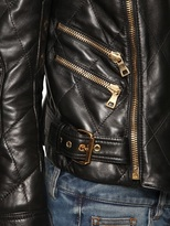 Balmain Quilted Nappa Leather Biker Jacket