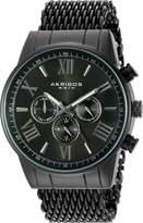 Akribos XXIV Men's Swiss Quartz Stainless Steel Automatic Watch, (Model: AK919BK)