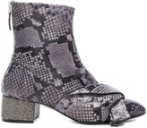 No.21 No. 21 Snakeskin Embossed Bow Booties