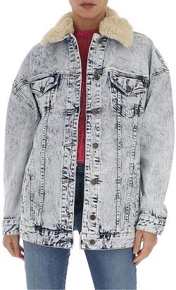 MICHAEL Michael Kors Contrast Collar Denim Jacket
