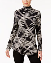 JM Collection Striped Turtleneck Top, Only at Macy's