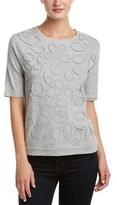 Joan Vass Silk-trim T-shirt.