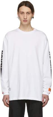 Heron Preston White Racing Long Sleeve T-Shirt