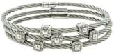 Charriol 18K White Gold & Stainless Steel 0.70 Ct Diamond Bracelets Set of 3