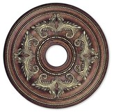 Livex Lighting Ceiling Medallion Gilded Accents Size: Small