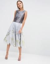 Ted Baker Rahele Full Skirt in Pearly Petal Print