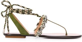 Aquazzura Surf wrap-around flat sandals