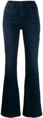 7 For All Mankind flared denim trousers