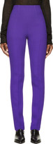 CNC Costume National Purple High-waisted Wool Trousers