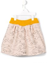 Bobo Choses illustrated bird print skirt - kids - Cotton - 3 yrs