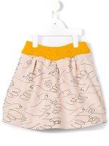 Bobo Choses illustrated bird print skirt