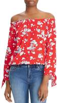 Lauren Ralph Lauren Floral-Print Off-The-Shoulder Top