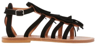 K. Jacques Fregate sandals with fringes