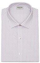 Kenneth Cole Reaction Men's Technicole Slim Fit Textured Check Spread Collar Dress Shirt