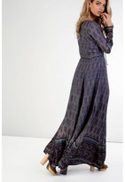 Indigo paisley maxi dress