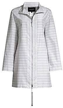 Lafayette 148 New York Women's Minerva Cotton Silk Striped Jacket