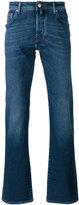 Jacob Cohen stonewashed straight-leg jeans