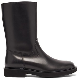 Tod's Woxy Leather Boots - Black