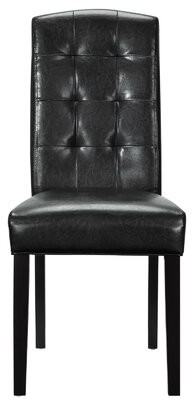 Bolte Tufted Upholstered Side Dining Chair in Black Darby Home Co