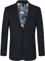 Oxford Auden Wool Suit Jacket Navy X
