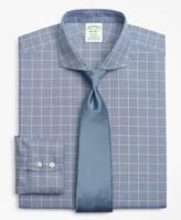 Brooks Brothers Stretch Milano Slim-Fit Dress Shirt, Non-Iron Royal Oxford Glen Plaid
