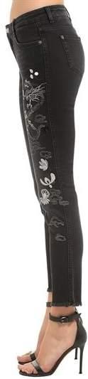 Ermanno Scervino Slim Fit Embroidered Stretch Denim Jeans