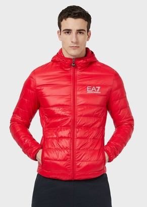 Ea7 Full-Zip Quilted Jacket In Tech Fabric