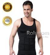 Roludom Men's Slimming Body Shaper Tummy Waist Magic Compression Muscle Tank Top