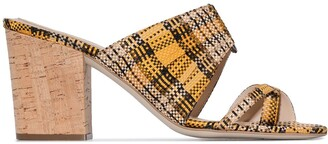 Rosie Assoulin Funky 70mm plaid mules