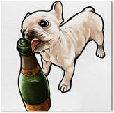 Oliver Gal Frenchie And Bubbly Canvas Art By The Artist Co.