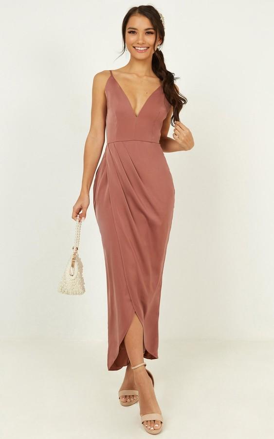 Showpo Shes a dreamer dress in dusty rose - 4 (XXS) Bridesmaid
